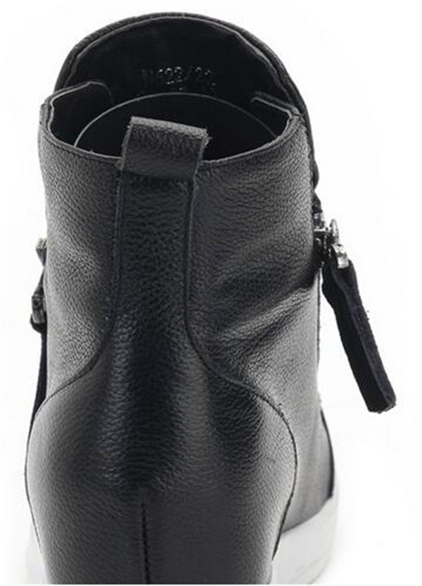 Fashion Comfortable Women Shoes with Zipper (HS8-3)