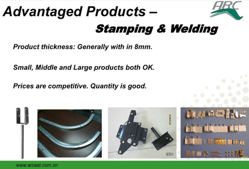 OEM Hot DIP Galvanized Carbon Steel Welding and Fabrication Parts Arc-S341