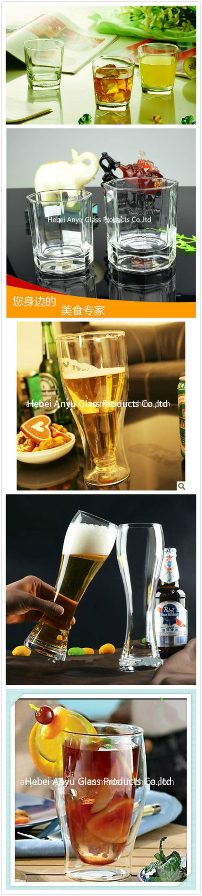 Factory Direct High Quality Square Whisky Glass Heat Resistant Transparent Glass Cup