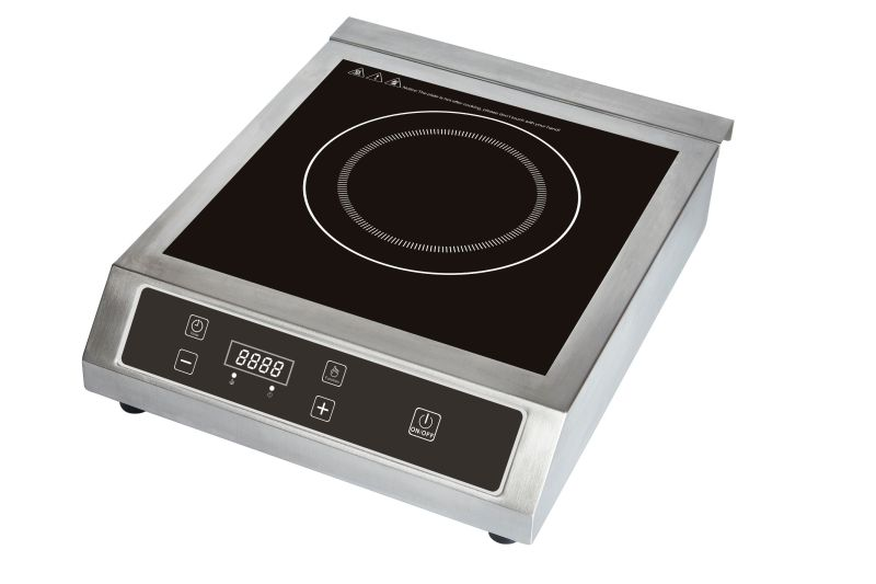 3500W Restaurant Use Stainless Steel Commercial Induction Cooktop for India Market