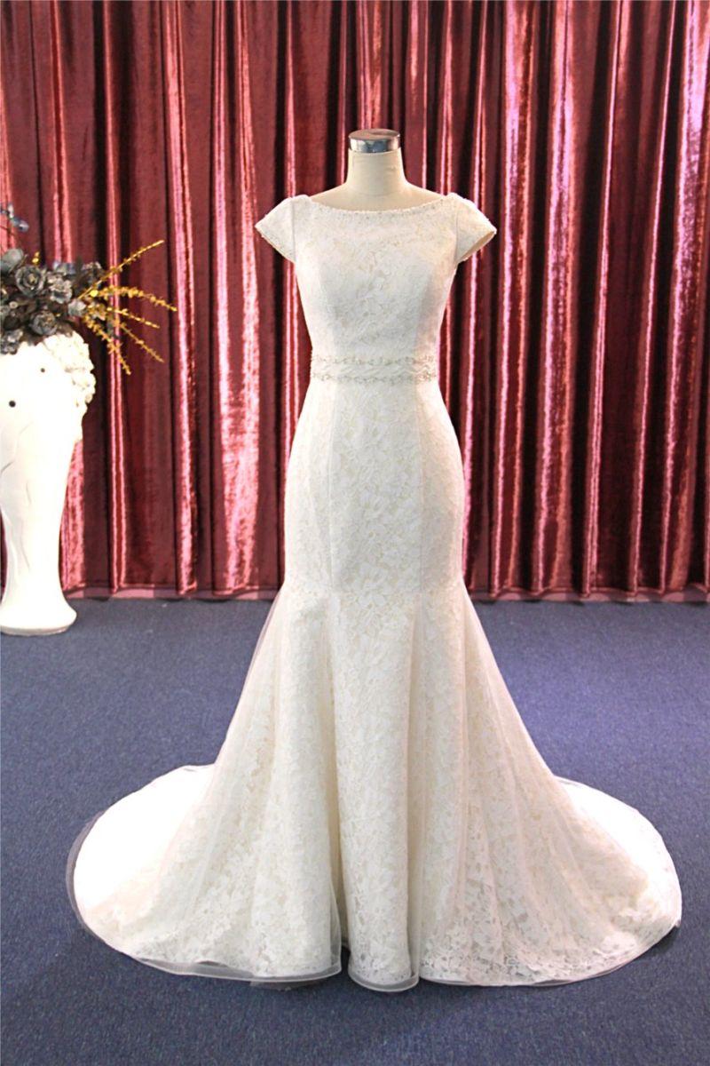 Fashion Lace Mermaid Beading Wedding Dress Formal Dress