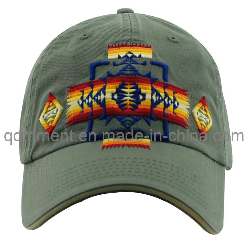 Fashion Cotton Till Embroidery Sport Golf Baseball Cap (TMB0911)