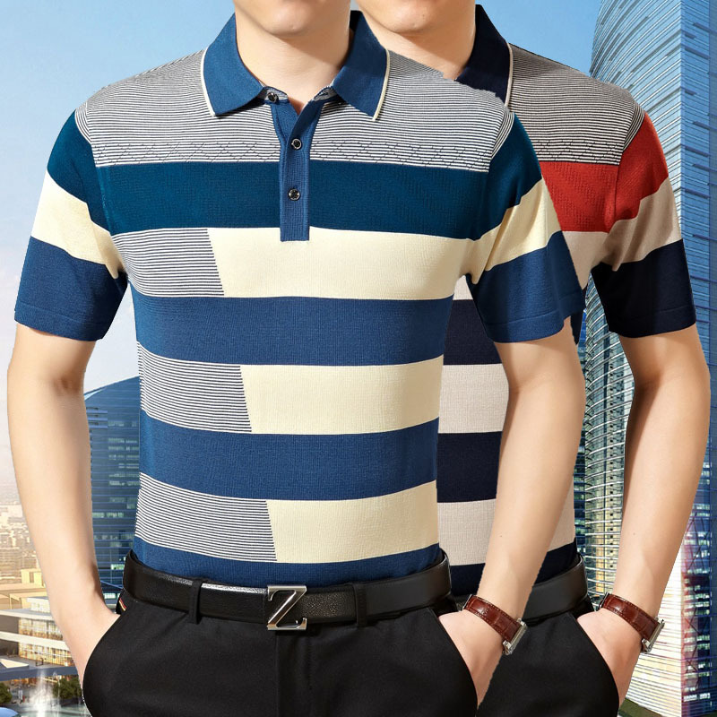 2016 Hot Product Jacquard Fabric Commercial Men Polo Shirt