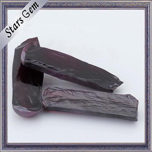 Synthetic Superior Dark Red Ruby Corundum Rough 8 #