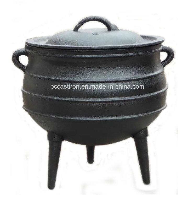 Full Size Preseasoned Cast Iron Potjie Pots/Cauldron