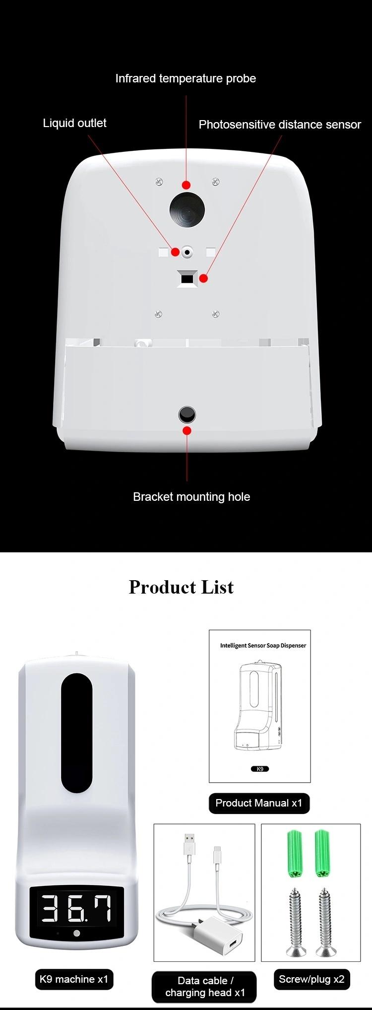 Automatic Sensor Temperature Measurement Hand Sanitizer Dispenser