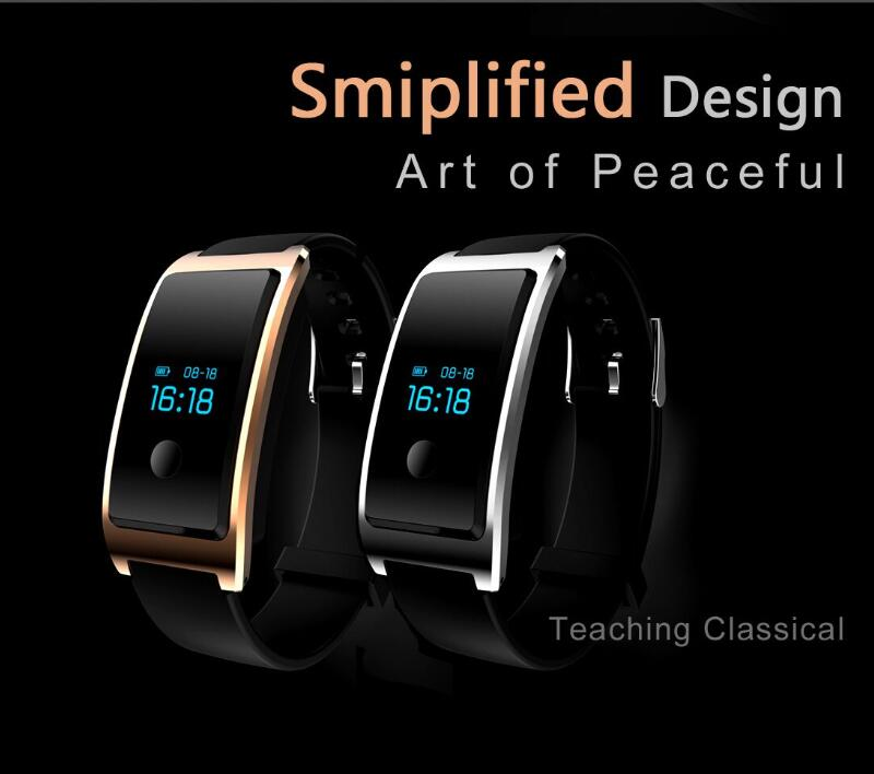 Fitness Tracker, Bluetooth 4.0 Water Resistant Smart Watches, Sleep and Heart Rate Monitor Is Compatible with Android Smartphones