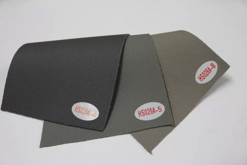 Factory Stock Good Quality PU Microfiber Synthetic Leather (HS026#)