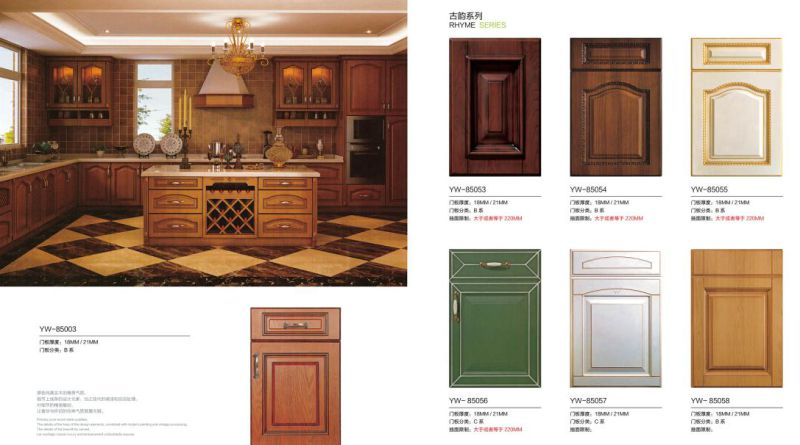 Shaker PVC Kitchen Furniture with Many Colors (factory price directly)