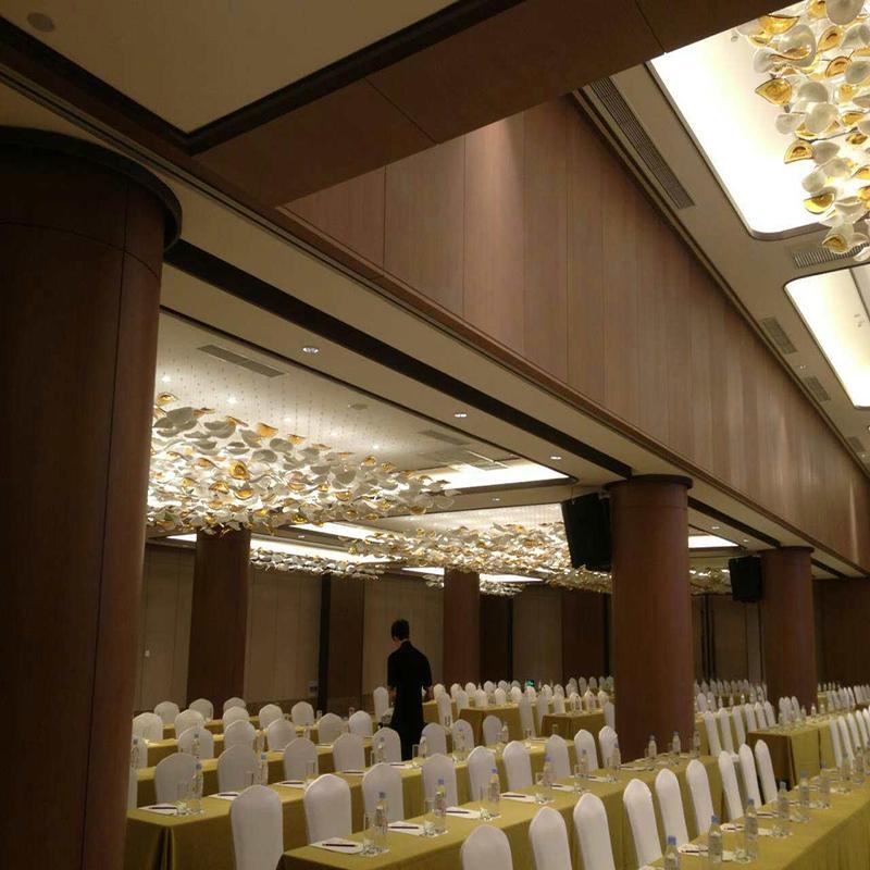 Fashion Flower Glass Pendant Lighting with Hotel Lobby