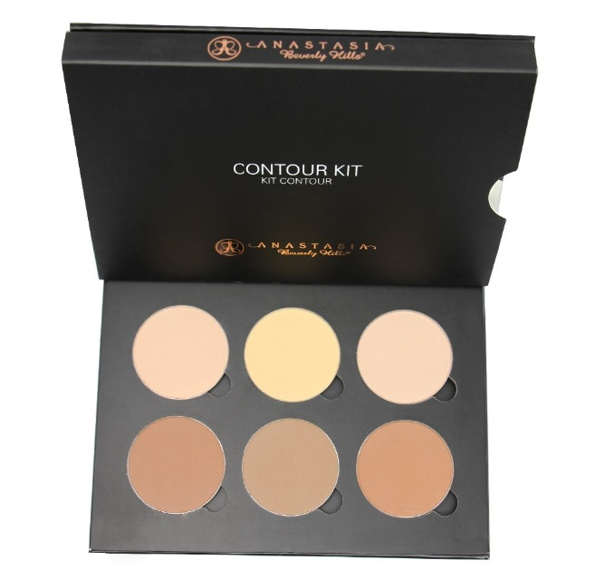 Anastasia PRO Series Contour Kit Six Sculpting and Highlighting Powders Light to Medium or Medium to Tan