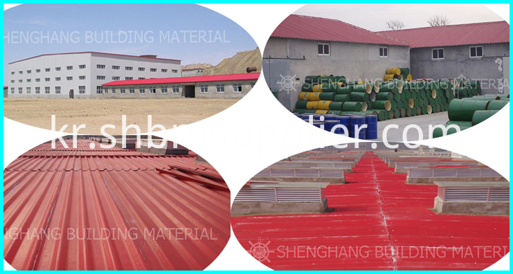 Insulated blue ceramic roof tile