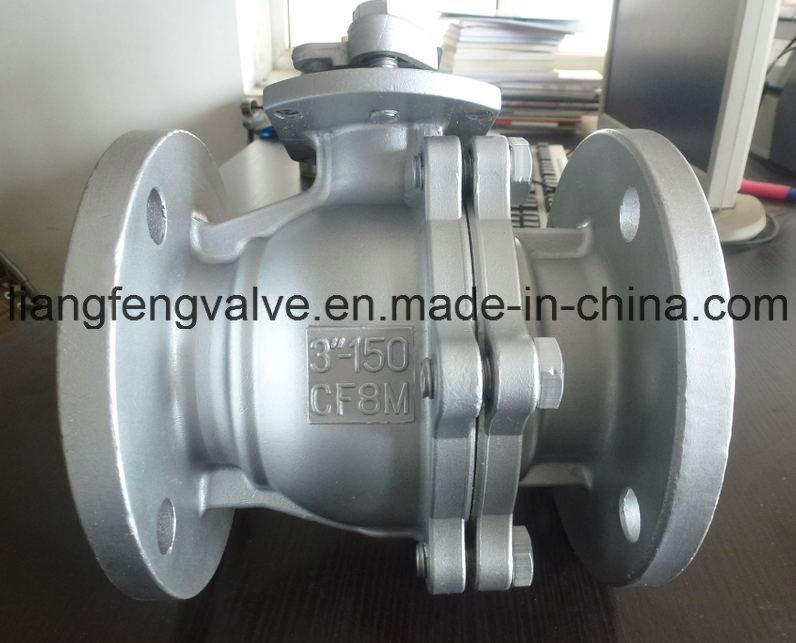 API Stainless Steel CF8 / CF8m / Wcb Flanged Ball Valve