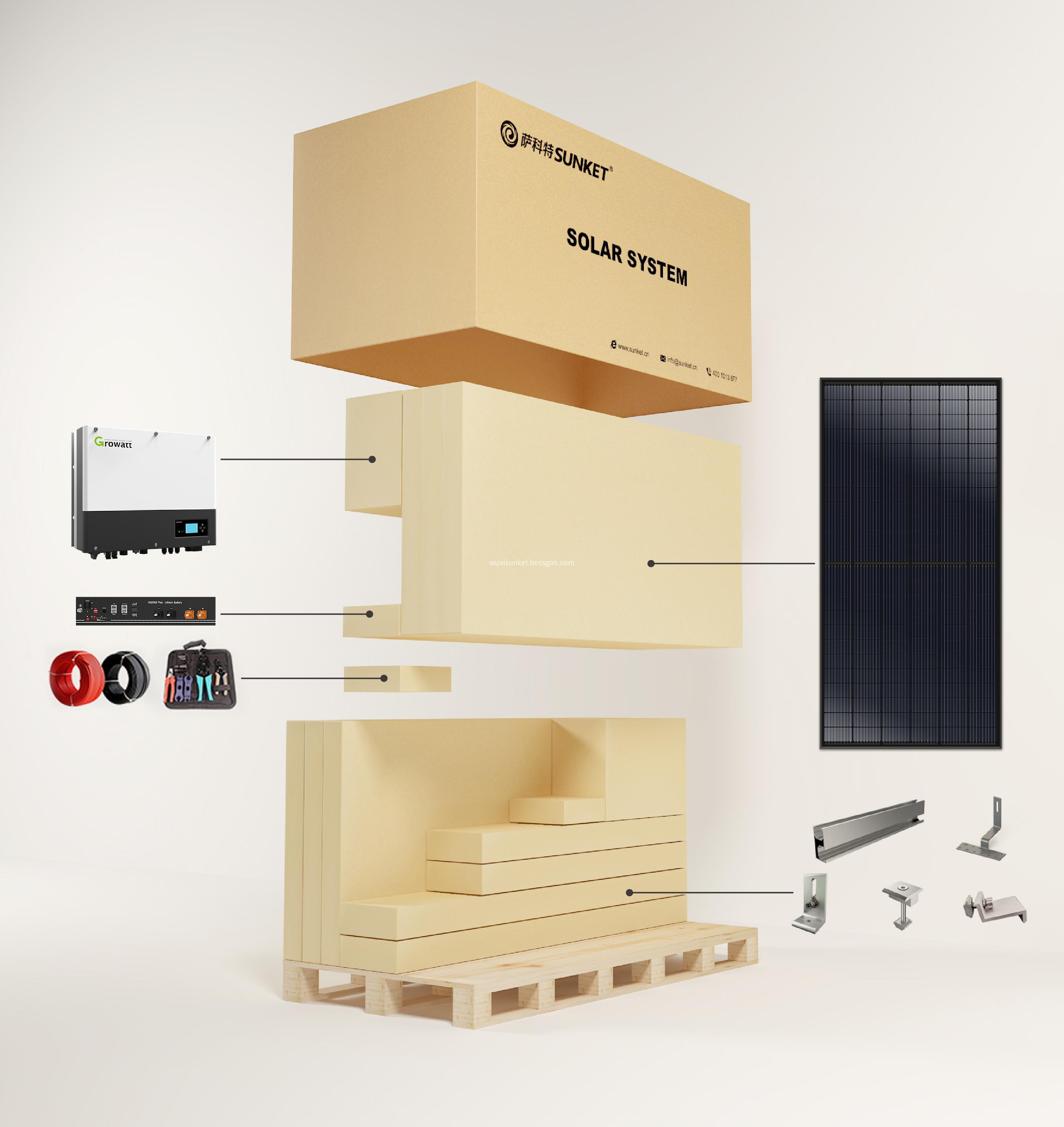 6KW On Off Grid Solar Energy Storage System