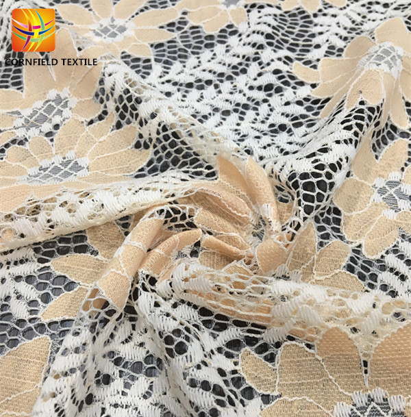 Polyester Embroidery Lace Fabric
