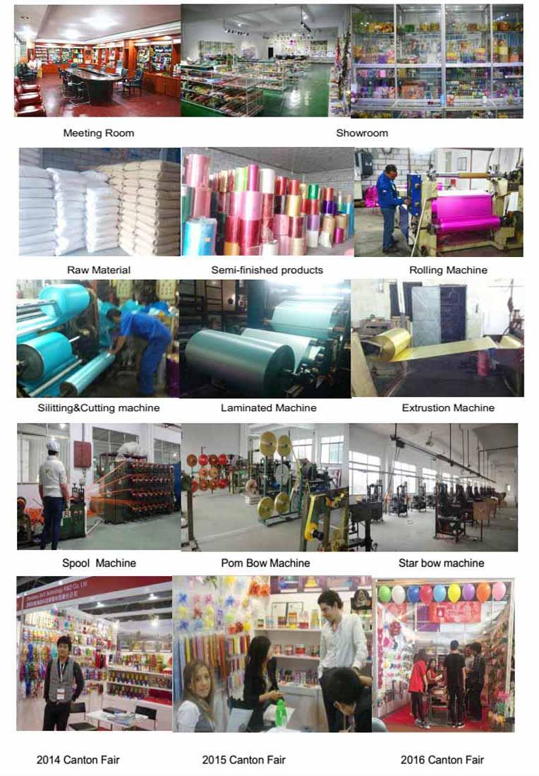 Maunfacture Colorful Plastic Iridescent Ribbon, Plastic Ribbon Rolls