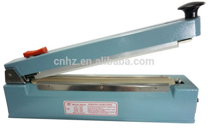 Aluminum Body Hand Impulse Middle Cut Sealing Machine for Food Packing