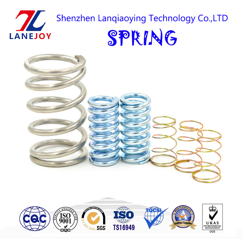 Manufacturer Custom Heavy Duty Metal Stainless Steel Wire Pull Hook Clip Leaf Flat Small Spiral Extension Constant Force Tension Torsion Compression Coil Spring