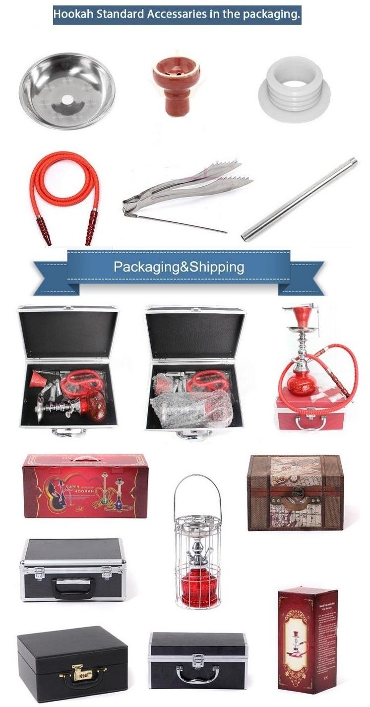 Fashion Wholesale Aluminum Nargile Smoking Pipe Shisha Hookah