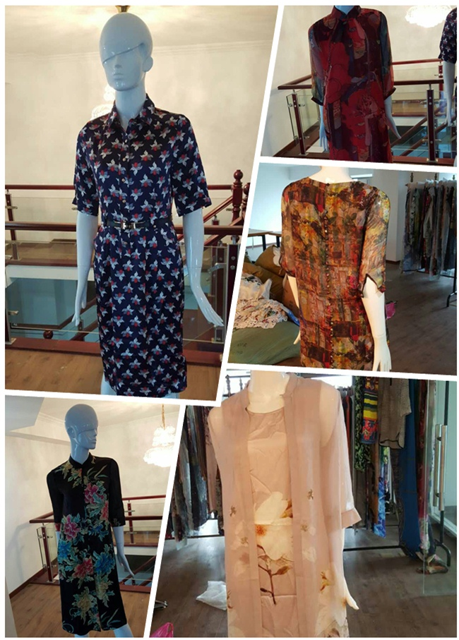 2017 Fashion Digital Print in 100% Silk Fabric Printed Textile (TLD-0021)