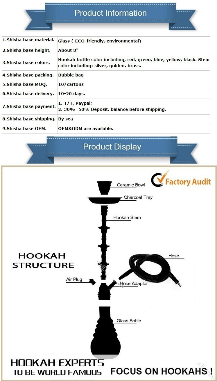 New Design Replaceable Joint DIY Design Hookah Shisha Stem