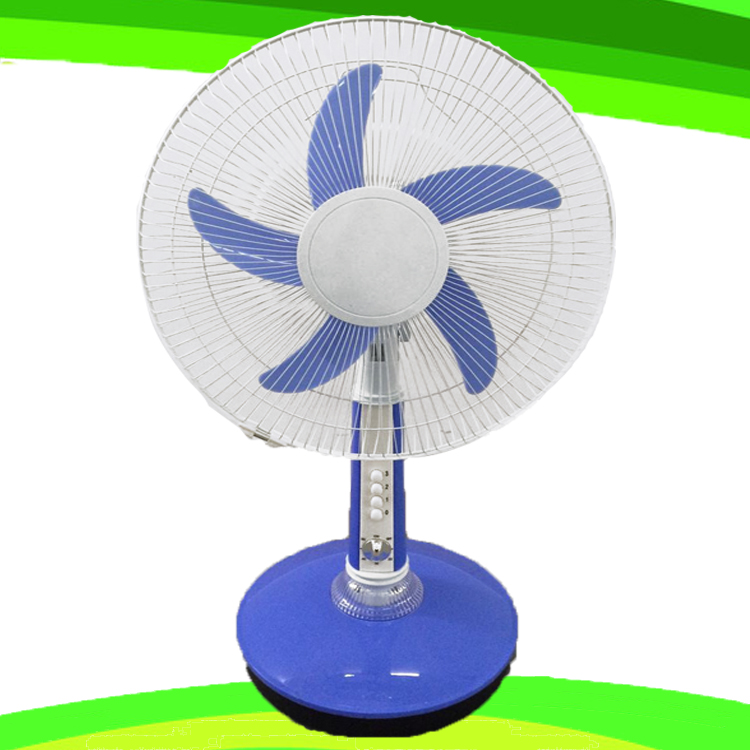5 Blade 16 Inches AC 110V Stand Table Fan Rechargeable Fan (SB-T5-AC16D)