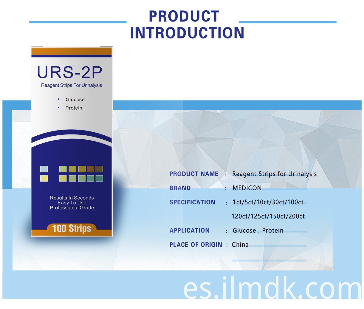Glucose Protein Urine Test Strip