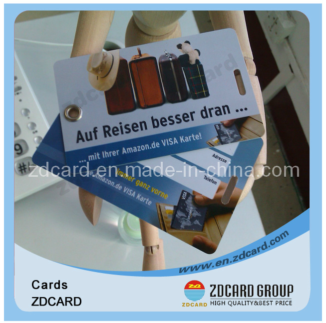 Standard Size PVC Luggage Tag with Writing Material