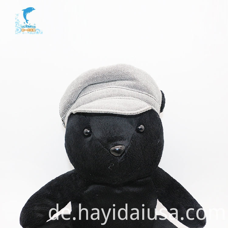 black bear hand puppet