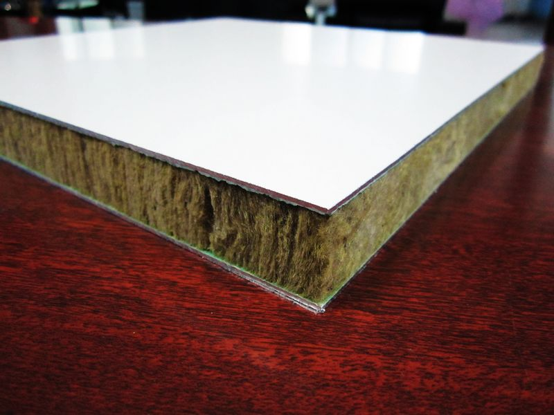 Super Thick Rock Wool Insualted Sandwich Panels Fire Prevention Board