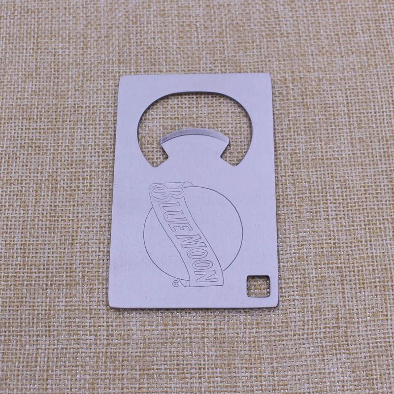 Rectangel Shape Metal Stainless Steel Credit Card Bottle Opener on Sale