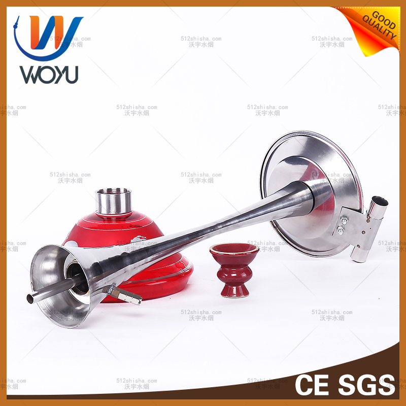 Stainless Steel Small Pretty Waist Big Bowl of Silicone Tube Bottle Pipes of Smoke Hookah Shisha Charcoal Water Pipe Smoking Tobacco