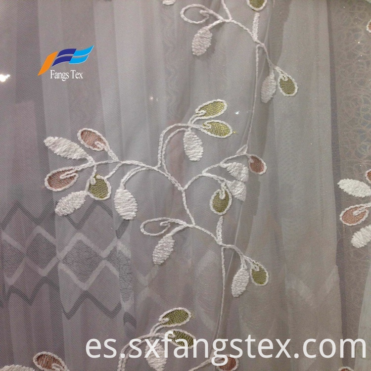 100% Polyester Embroidered Wide Voile Curtain Fabric 3