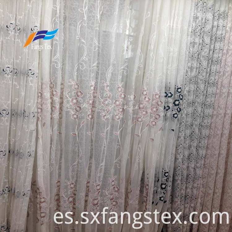 100% Polyester Embroidered Wide Voile Curtain Fabric 5