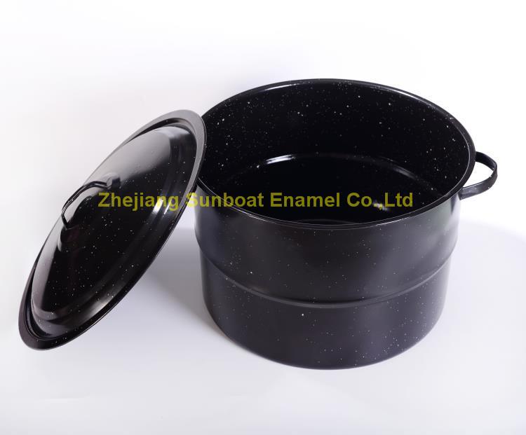 21qt Enamel Stock Pot with Cover