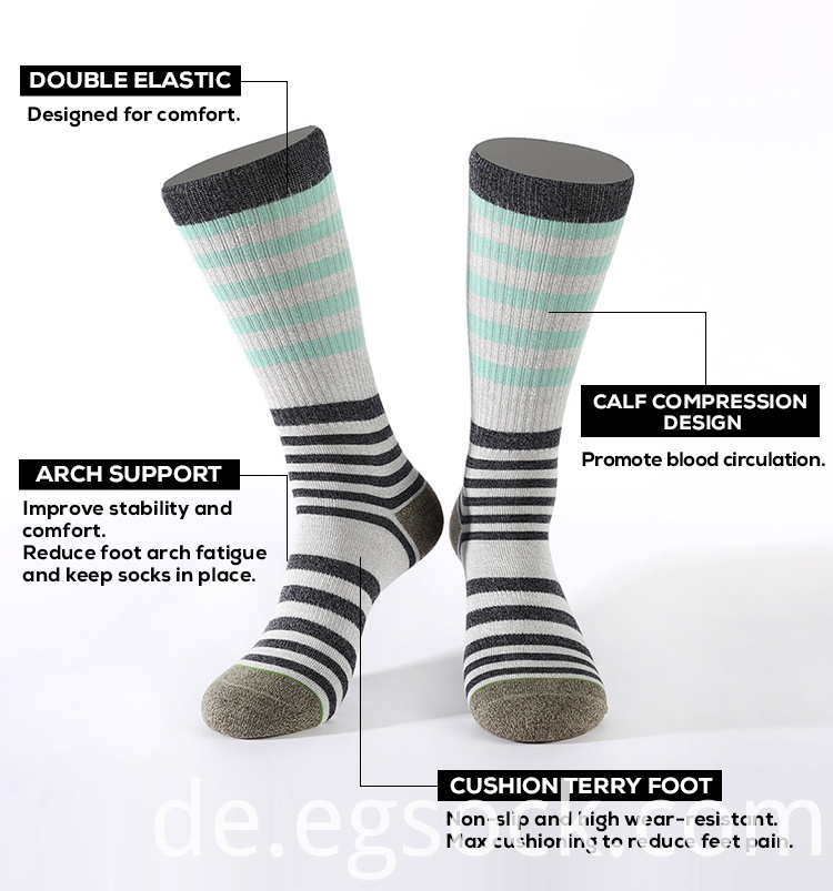 multi stripe fashion socks
