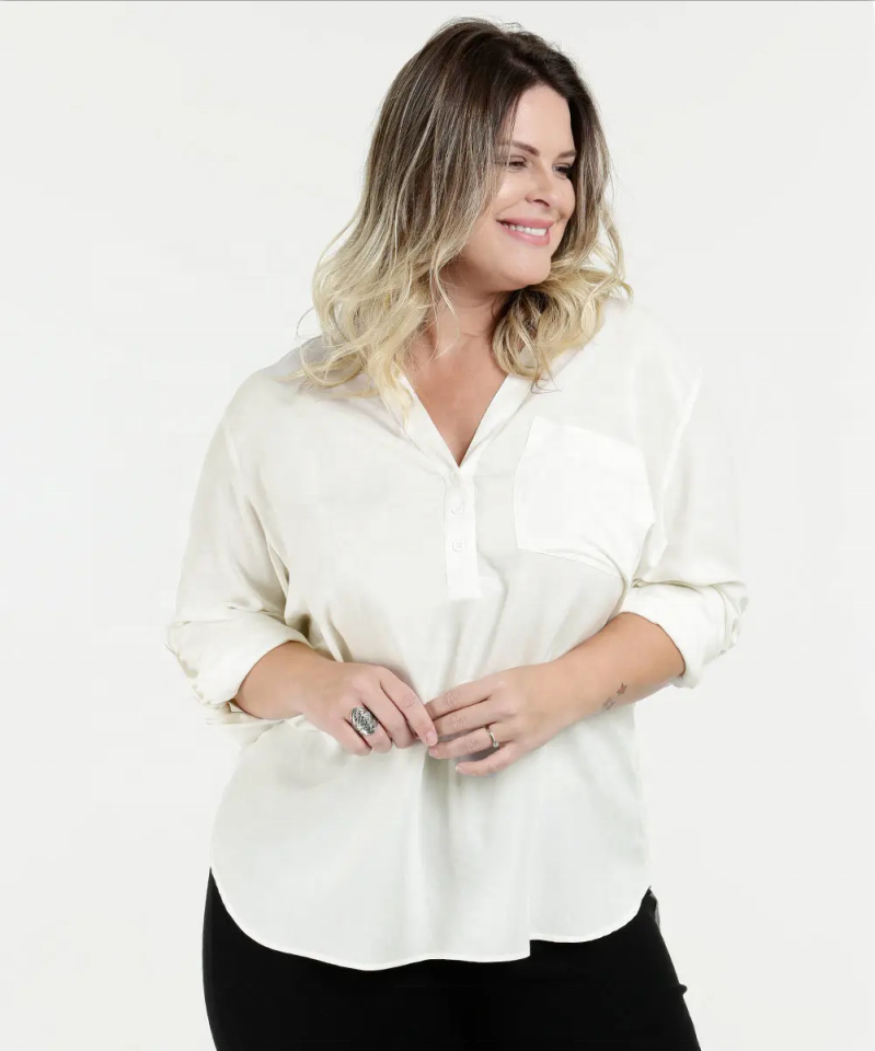 Plus Size Long Sleeve Blouse