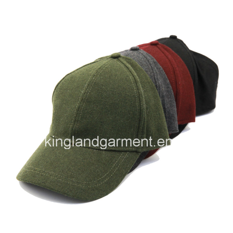 Polyester & Wool Quality Warm Plain Gray Baseball Cap