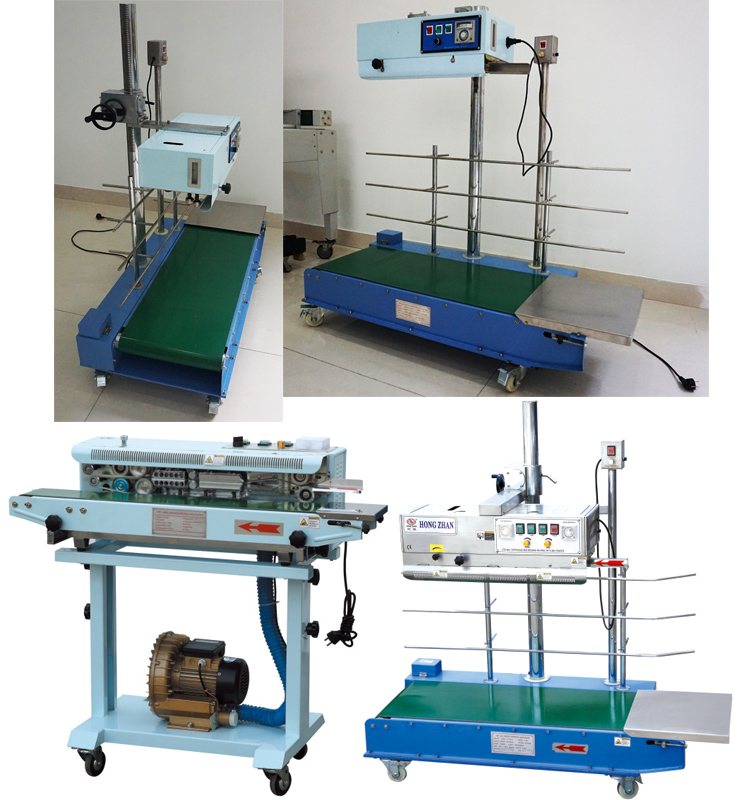 Factory Outlet Semi Automatic Table Top and Floor Type Continue Sealing Machine for Band and Packing Bag with Knurling and Embossing