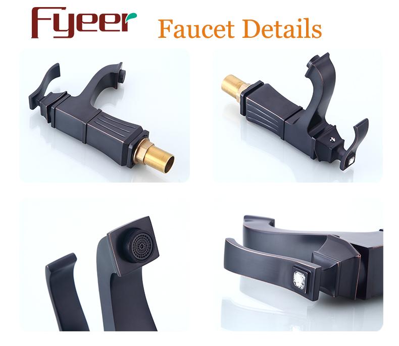 Fyeer New European Style Black Bathroom Basin Faucet