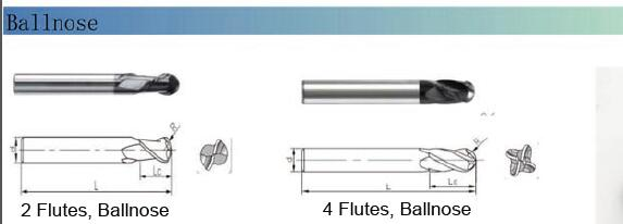 Chinese Supplied K40 Solid Carbide Endmills for Mould Machining