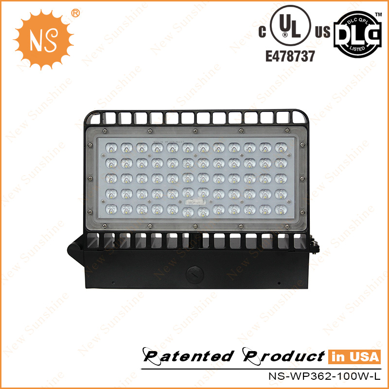 UL Dlc Listed IP65 Outdoor 9000lm 80W LED Wall Lamps