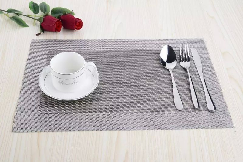 High Quality Eco-Friendly Material PVC Woven Placemat