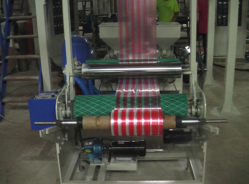 Sj-45*2-55*2 2 Color Striped Film Blowing Machine