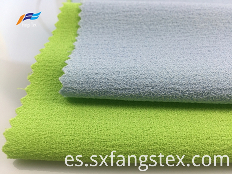 100% Polyester Fleece Crepe Dyed PD Clothing Fabric 2