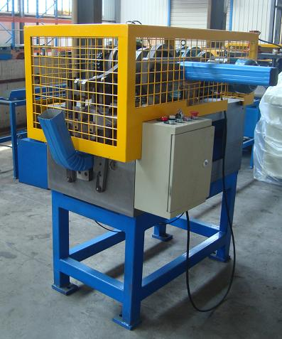 Popular Steel Downpipe Roll Forming Machine Line, High Speed, PLC Control