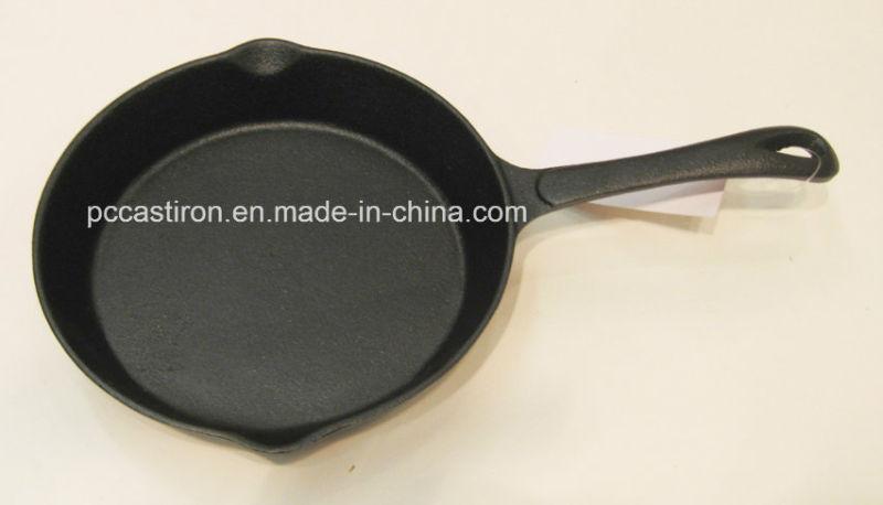 Vegetal Oil Coating Cast Iron Frypan Dia 15cm 16cm 20cm