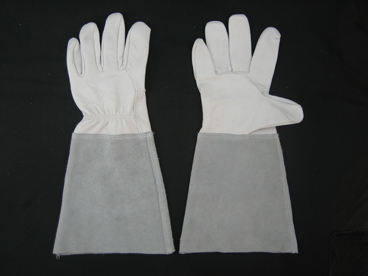 Goat Leather Palm Long Sleeve TIG Welding Work Glove