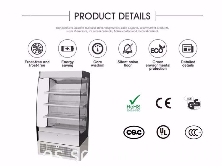 High Quality Cake Display Fridge
