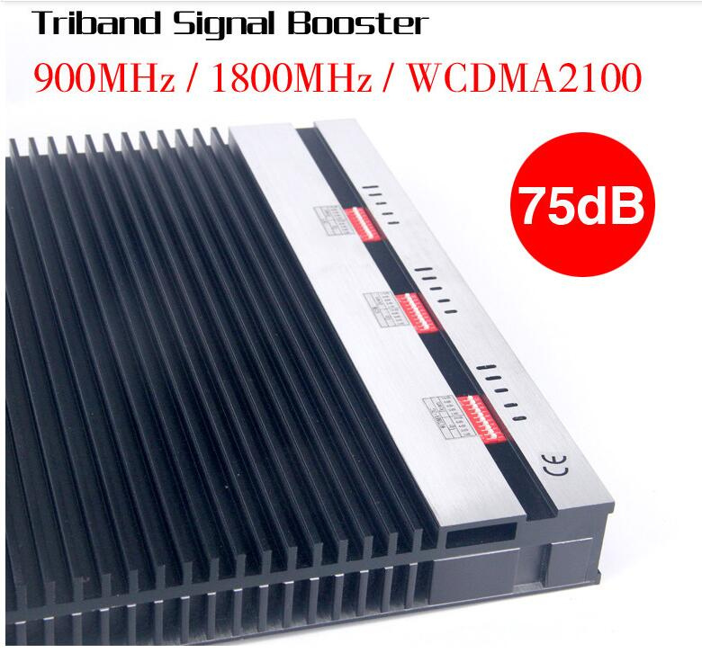 Tri Band 900/1800/2100 MHz Repeater Signal, Triple Band Mobile Signal Booster, GSM / 3G / 1800MHz Boost Signal Repeater